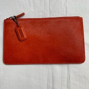 Coach coin purse, pony hair